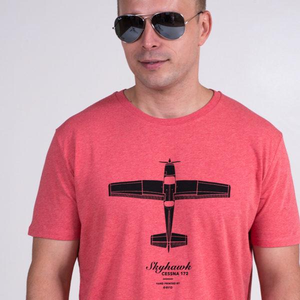 Cessna 172 Skyhawk tričko pánské, červený melír