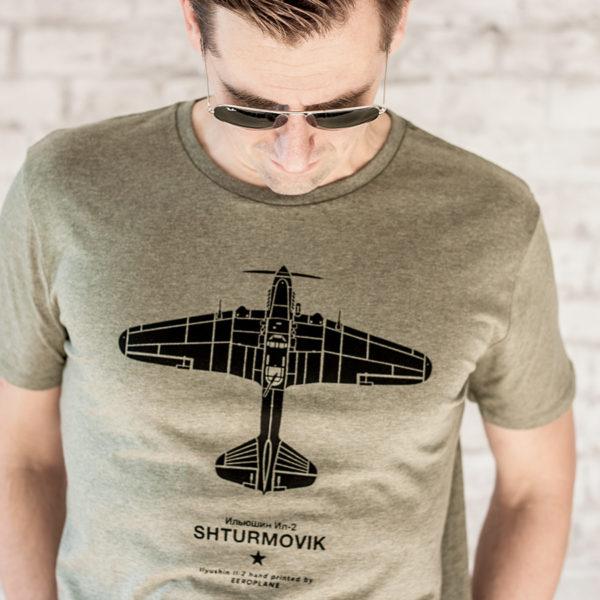 pánské tričko s potiskem letadla Iljušin Il-2 Šturmovik