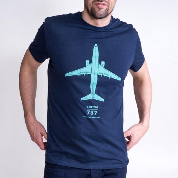 pánské tričko Boeing 737 tmavě modré