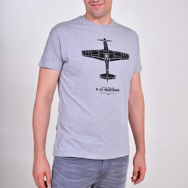 pánské tričko s letadlem P-51 Mustang