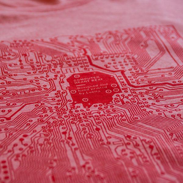 IT tričko tištěné spoje červený melír