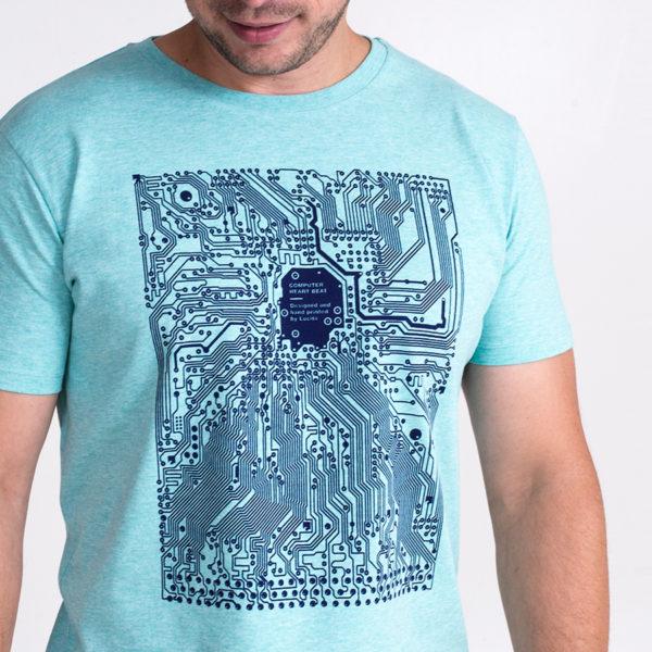 IT tričko s potiskem tištěné spoje