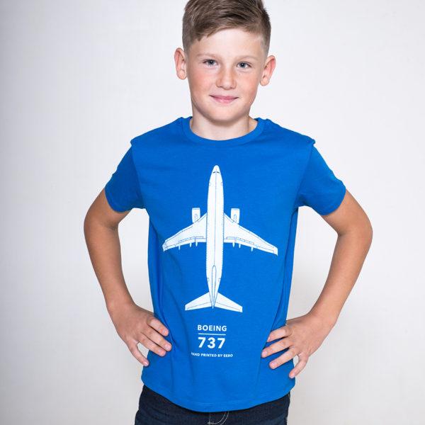 dětské tričko s letadlem Boeing 737