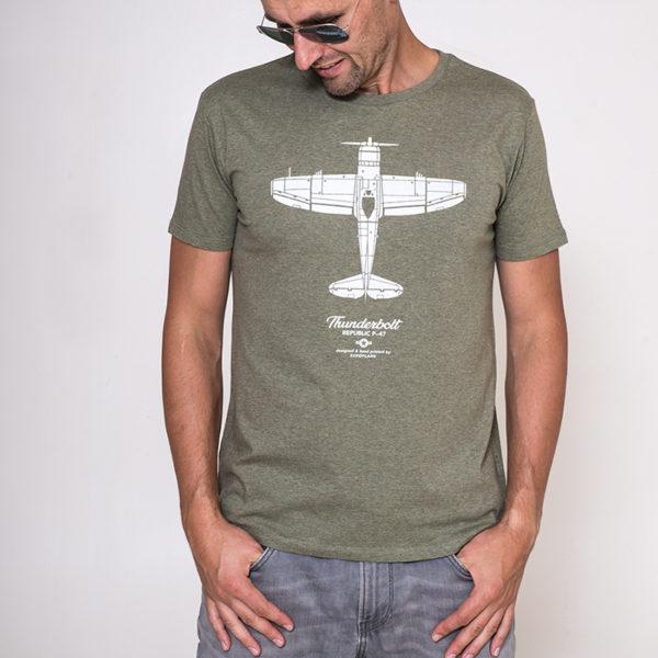 Eeroplane tričko s letadlem P-47 Thunderbolt
