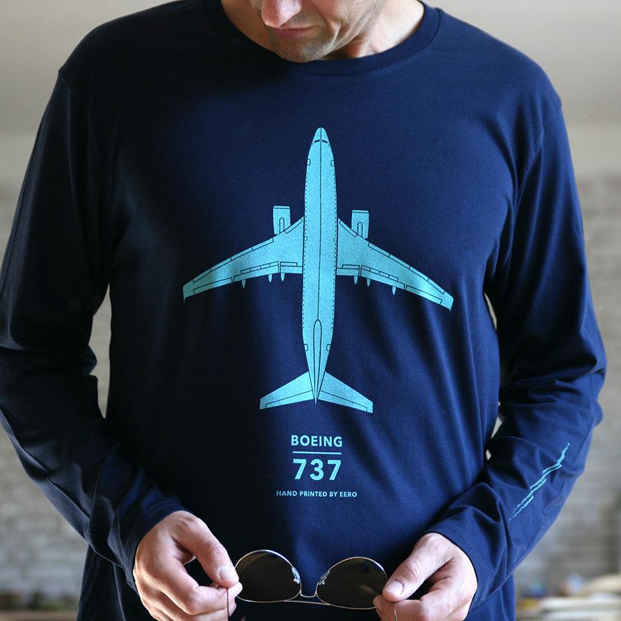 Boeing 737 triko s dlouhým rukávem od Eeroplane