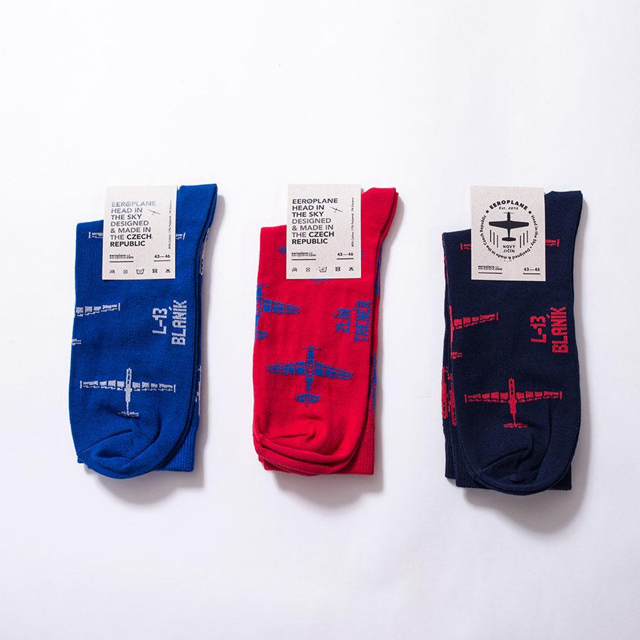 české ponožky s letadly od Eeroplane