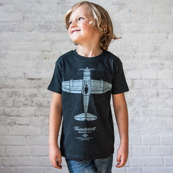 dětské tričko s letadlem Republic P-47 Thunderbolt - Eeroplane