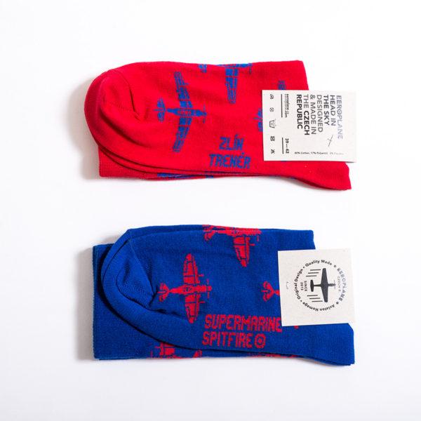 Letecké ponožky Zlín Trenér & Spitfire
