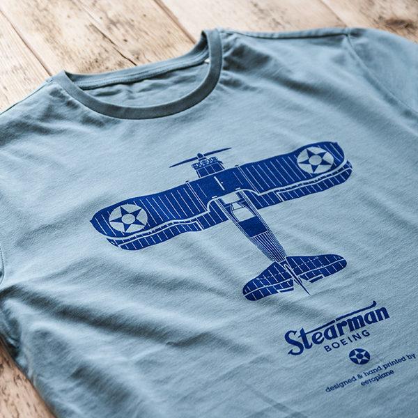 tričko s letadlem Boeing Stearman od Eeroplane