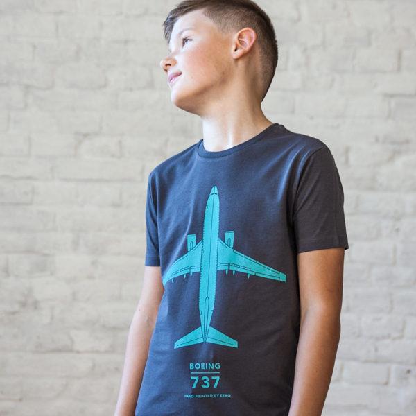 dětské tričko s letadlem Boeing 737 od Eeroplane