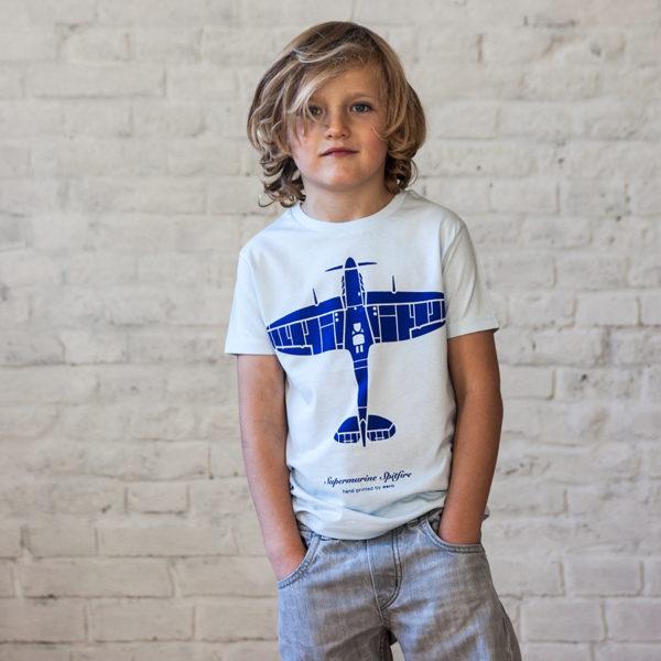 Spitfire dětské tričko s letadlem Eeroplane