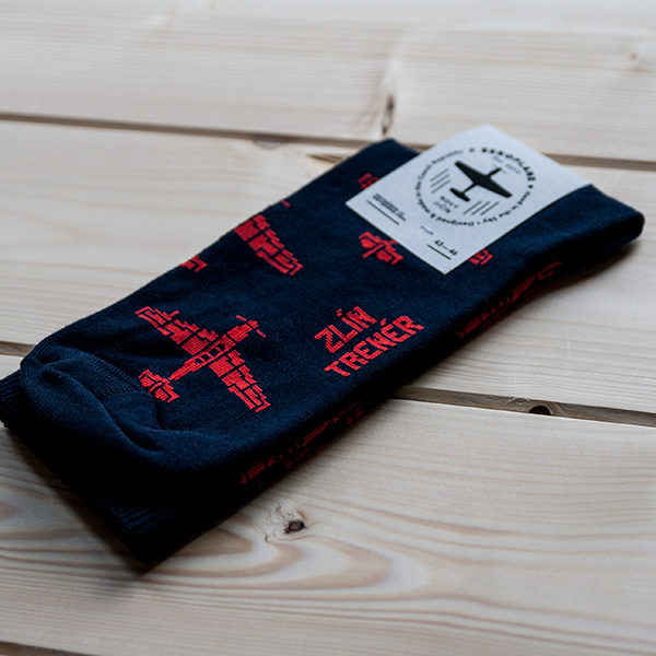 ponožky s letadlem Zlín Trenér od Eeroplane