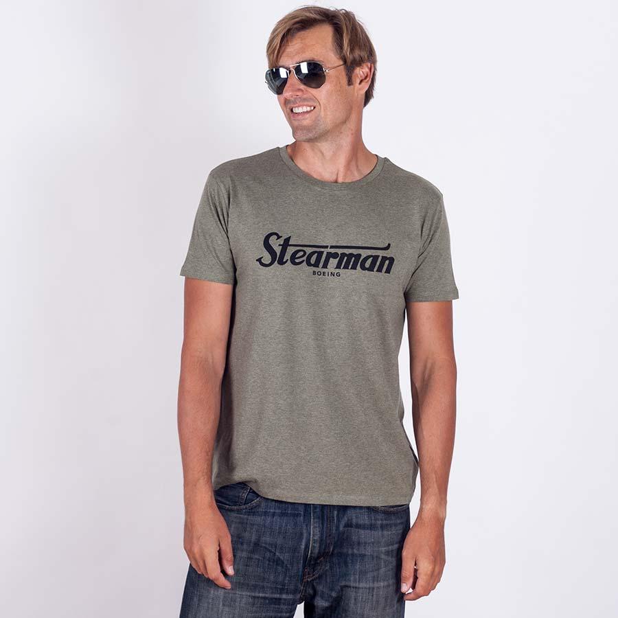 stearman-logo-tricko-khaki-eeroplane-02